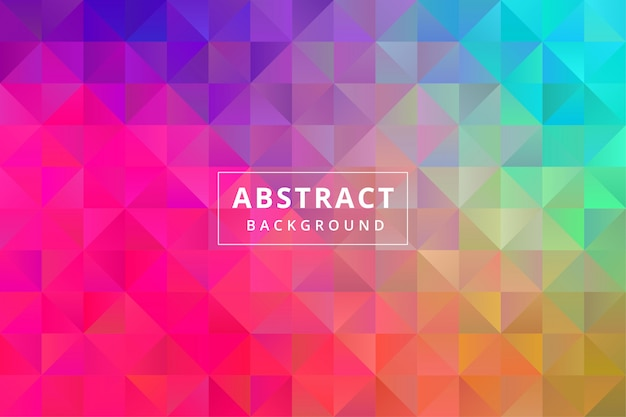 Abstract colorful background wallpaper with polygonal polygon shape premium vector