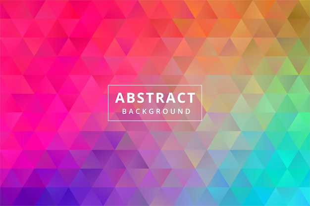 Abstract colorful background wallpaper with triangle polygonal polygon shape premium vector