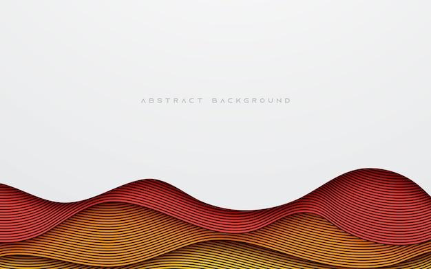 Размер слоя волнистой линии абстрактного красочного фона