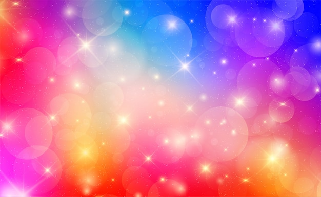 Abstract colorful background with bokeh lights