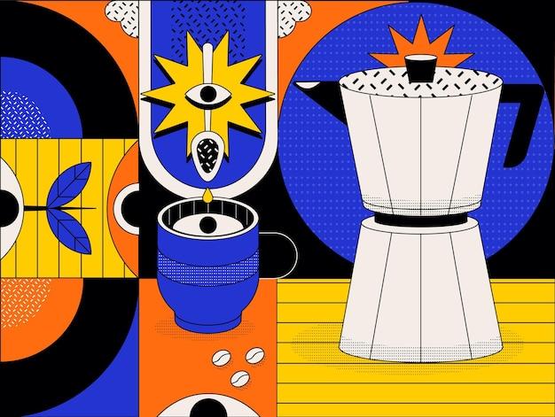 Абстрактный красочный фон с разными формами