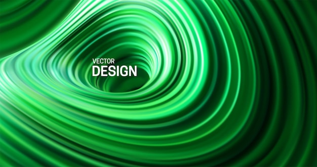 Abstract colorful background with green striped surface