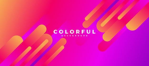 Абстрактный красочный фон с жидким стилем для баннера или интернета