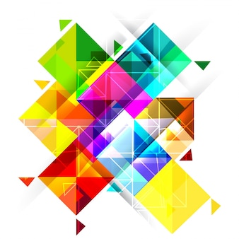 Abstract colorful background with squares.