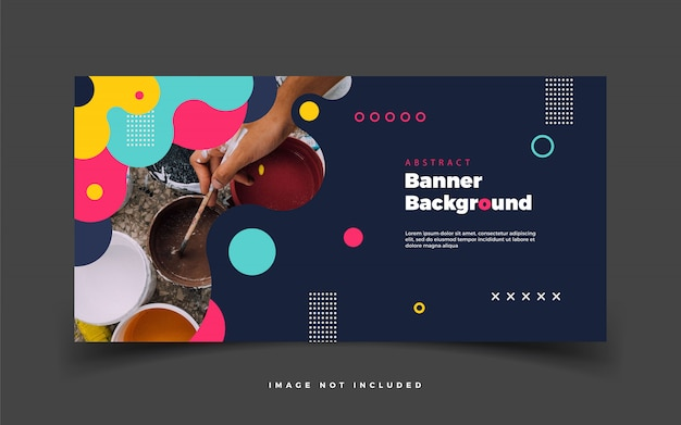 Abstract colorful banner background for web or for advertising promotion social media