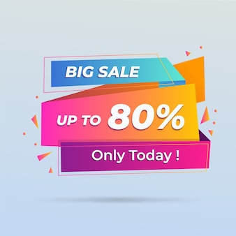 Abstract colorful banner big sale