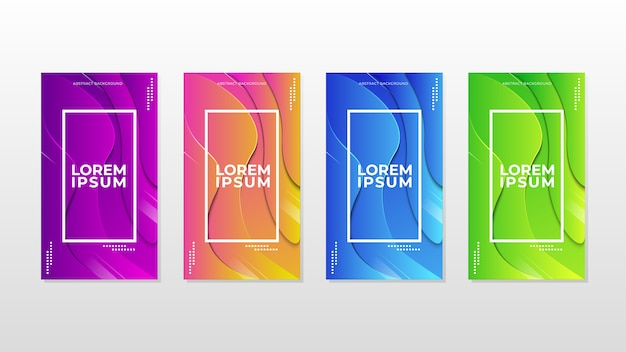 Abstract colorful banner template