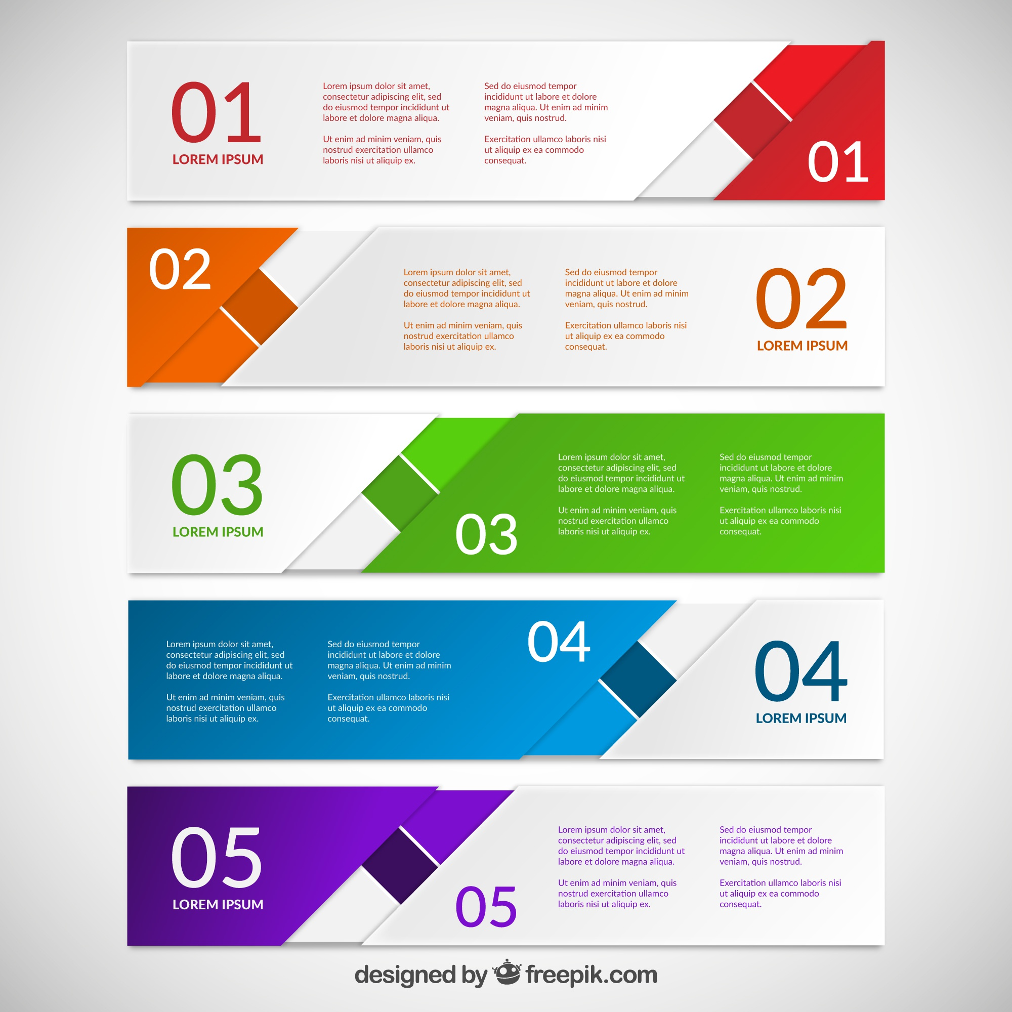 Abstract colorful banners for infographic