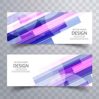 Абстрактные красочные баннеры шаблон дизайн
