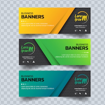 Abstract colorful banners template
