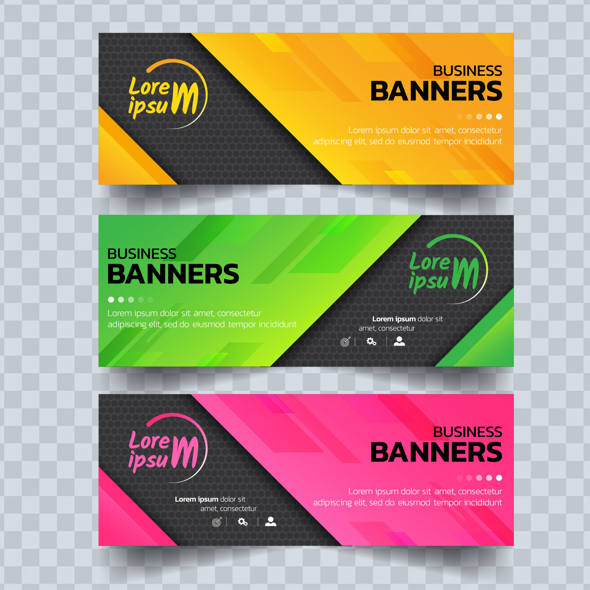 Abstract colorful banners template.