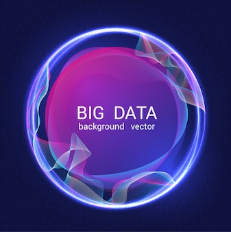 Abstract colorful big data background