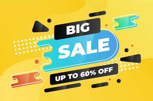 Abstract colorful big sale banner