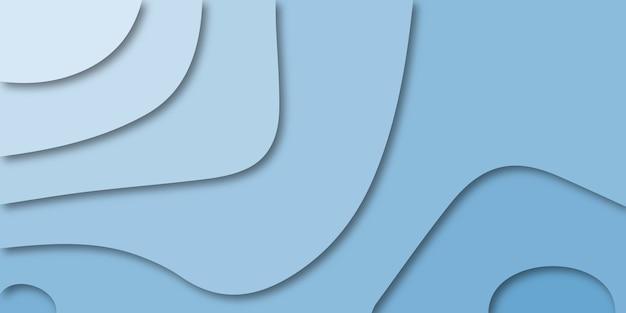 Абстрактный красочный синий фон кривой.