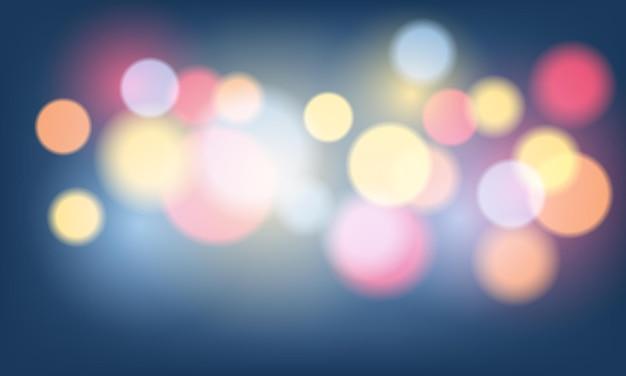 Абстрактный красочный фон боке с огнями и бликами. векторная иллюстрация.