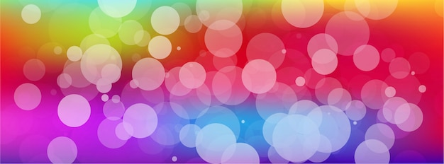 Abstract colorful bokeh banner background