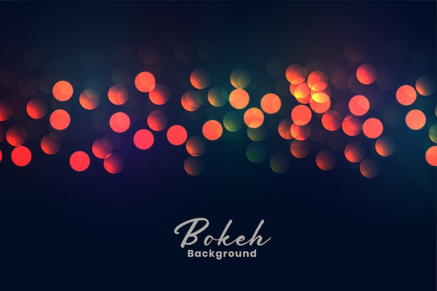 Abstract colorful bokeh lights background Free Vector
