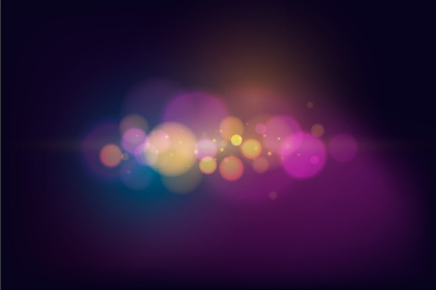 Abstract colorful bokeh lights wallpaper