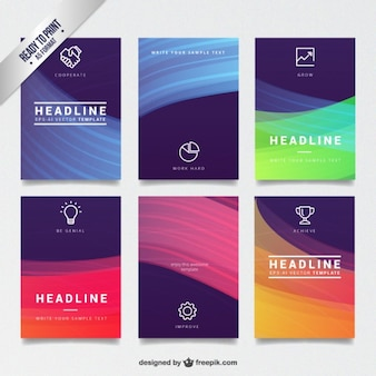 Abstract colorful brochures