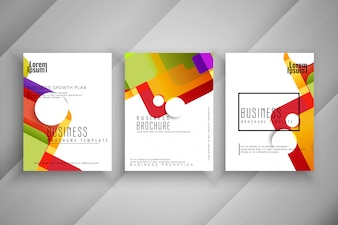 Abstract colorful Business brochure template design set