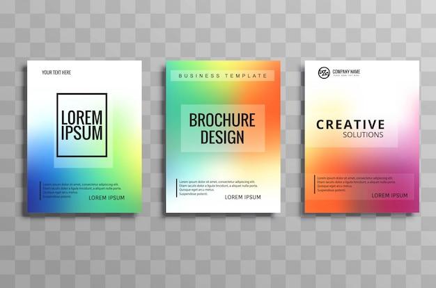Абстрактные красочные бизнес-брошюра шаблон дизайн