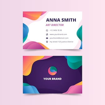 Abstract colorful business card for art director