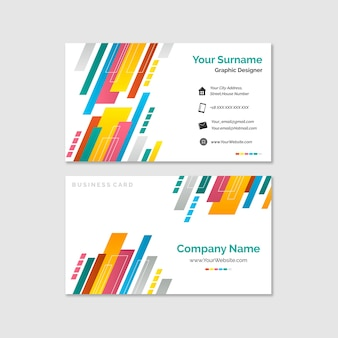 Abstract colorful business card collection