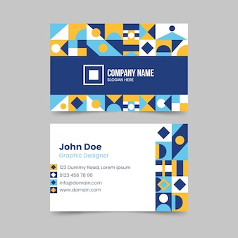 Abstract colorful business card concept
