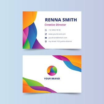 Abstract colorful business card for creative director