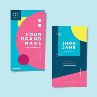 Абстрактный красочный стиль визитной карточки