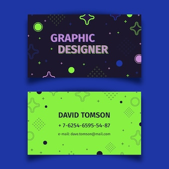 Abstract colorful business card template collection