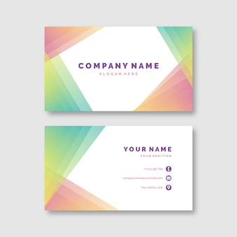 Abstract colorful business card template set