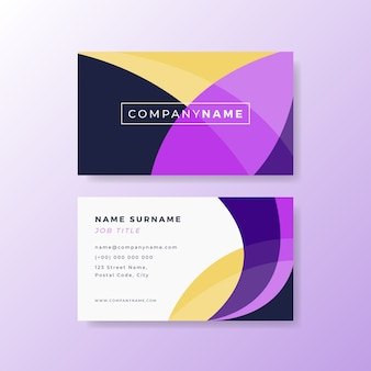 Abstract colorful business card template
