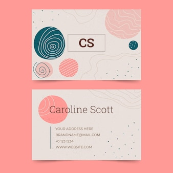 Abstract colorful business card