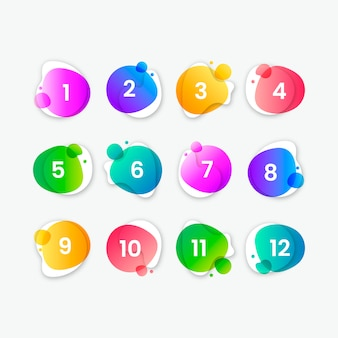 Abstract colorful button collection