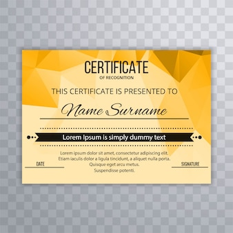 Abstract colorful certificate design template