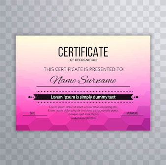 Abstract colorful certificate stylish background