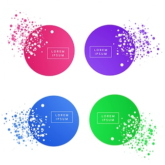 Abstract colorful circle banner set vector design