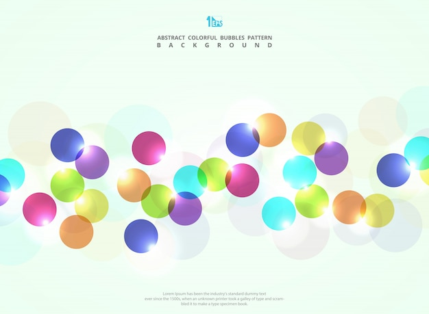 Abstract colorful circle bubble background