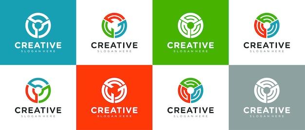 Абстрактный красочный круг логотип дизайн коллекции