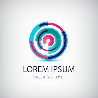 抽象的なカラフルなサークルループのロゴ