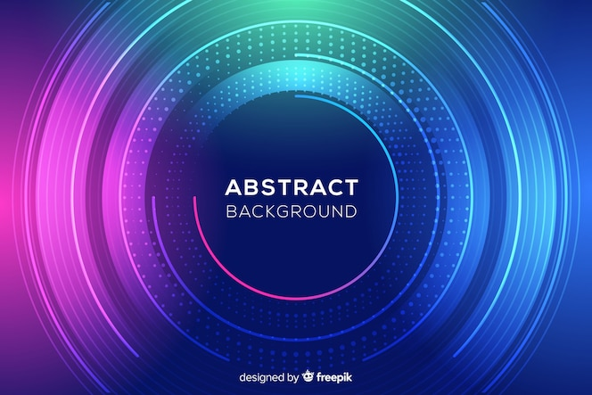 Abstract colorful circles and dots background