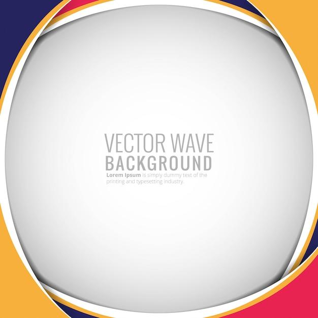 抽象的なカラフルな円形ウェーブ