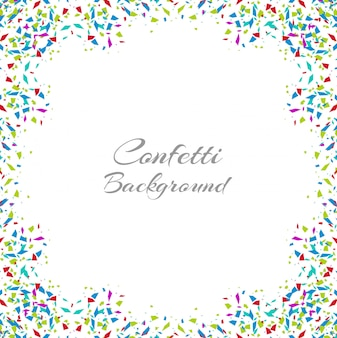 Abstract colorful confetti frame isolated