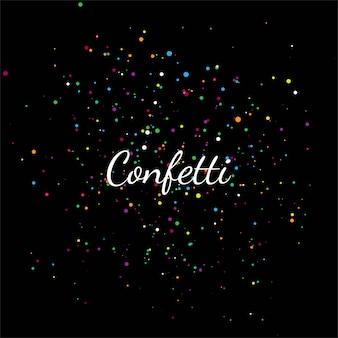 Abstract colorful confetti