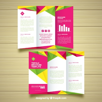 Abstract colorful corporate triptych