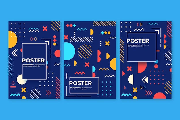 Abstract colorful cover collection concept