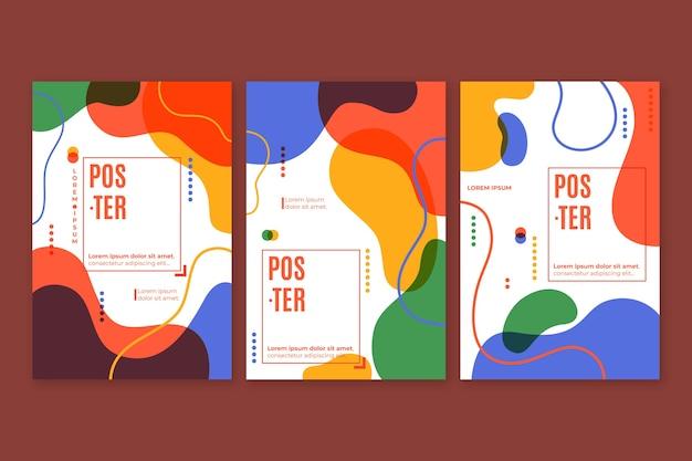 Абстрактный красочный дизайн коллекции обложек
