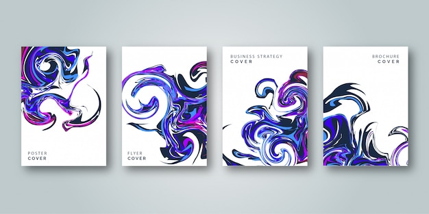 Abstract colorful cover template set