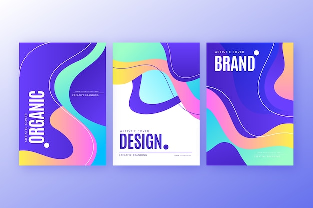 Abstract colorful cover